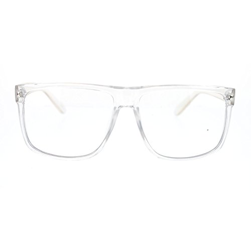80s Normcore Thin Plastic Clear Frame Geeky Nerd Large Fashion Eye - Glasses Men Geeky For