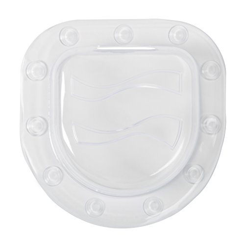 Price comparison product image Richards Homewares Bath Tub Overflow Drain Stopper Cover - Increases Water Depth - 6 Strong Suction Cups for Tight Seal - Modern Design - Machine Washable - PVC Vinyl - Clear