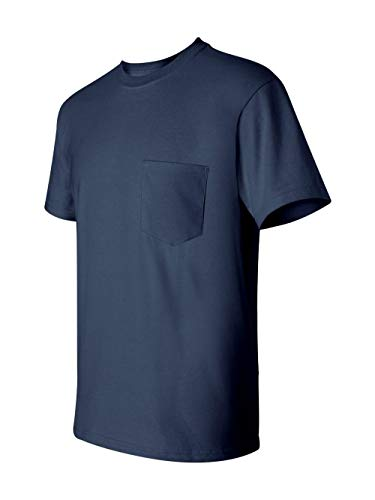 Gildan Mens 6.1 oz. Ultra Cotton Pocket T-Shirt G230 -NAVY L