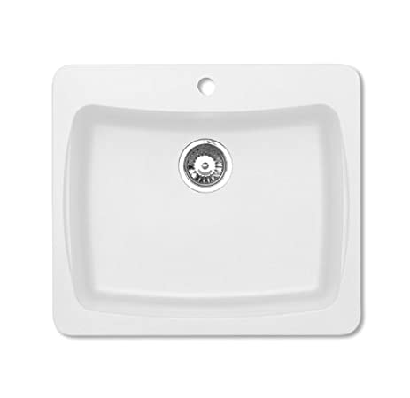 Pegasus AL10WH 25-Inch by 22-Inch Granite Single Bowl Kitchen Sink ...