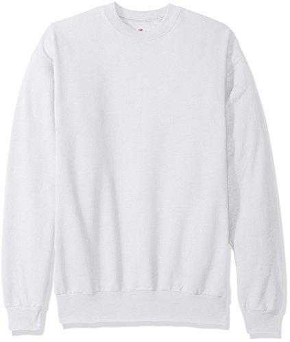 Sudadera para hombre EcoSmart Fleece de Hanes, blanca, mediana