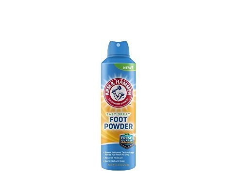 Arm & Hammer No White Mess Invisible Spray Foot Powder, 7 Ounces by Arm & Hammer