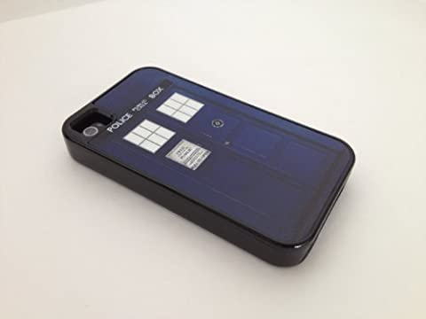 Tough iPhone 4 / 4S case - TARDIS Doctor Who iPhone 4 cover like Case-mate or Otterbox (Iphone4 Tough Cases)