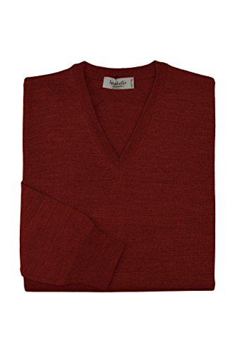 Italy Extrafine In Chandail Homme Made Laine V Col Mérinos Iacobellis Bordeaux Pullover YfzZavSWZ