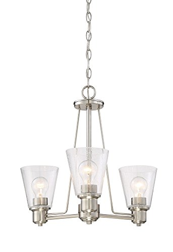 Designers Fountain 88083-SP Printers Row 3 Light Chandelier, Satin Platinum Satin Platinum 3 Light Pendant