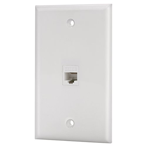 - IBL-1 Port Cat6 Keystone Ethernet Female to Female Wall Plate White