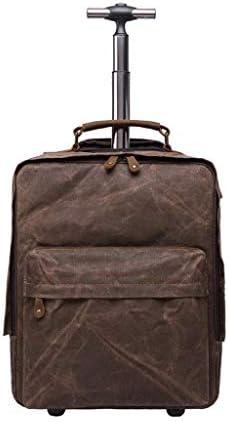 BAJIMI ハイキングバックパック、学生のバックパック、男の子女の子ティーンエイジャー学生、Aのローリングバックパックホイルラップトップバックパック荷物キャスター付きバックパックトロリースクールバッグ