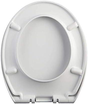 CXMMTGトイレのふた 便座ユニバーサルOスタイルのトイレの蓋抗菌尿素 - ホルムアルデヒドドロップミュートトップは、家族は肥厚WC-席をインストールするには簡単に実装します CXMWY-4W0Y2 (色 : 白い, サイズ : 42~48*38cm)