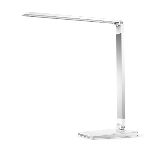 Aptoyu LED Dimmable Desk Lamp with 4 Lighting Modes (Studying, Reading, Relaxing, Sleeping) and 5 Level Dimming,...