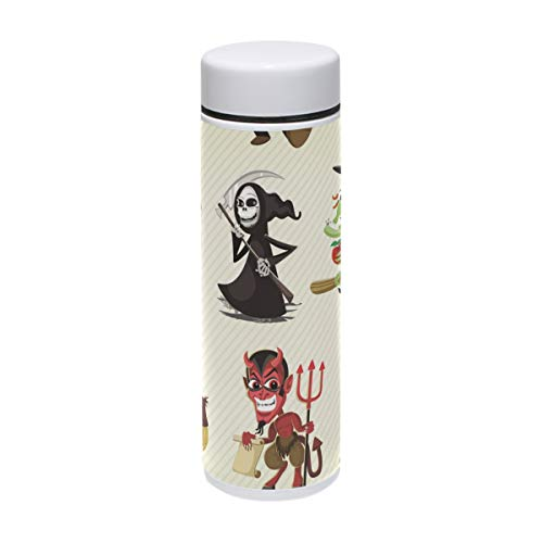 (LORVIES Hallowen Characters Stainless Steel Thermos Water Bottle Insulated Vacuum Cup Leak Proof Double Vacuum Bottle for Hot and Cold Drinks Coffee or Tea, Travel Thermal Mug,220 ml/)