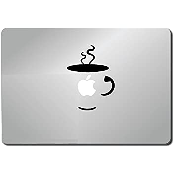 Coffee cup apple macbook ipad laptop vinyl decal sticker skin cover computer sticker computer decal