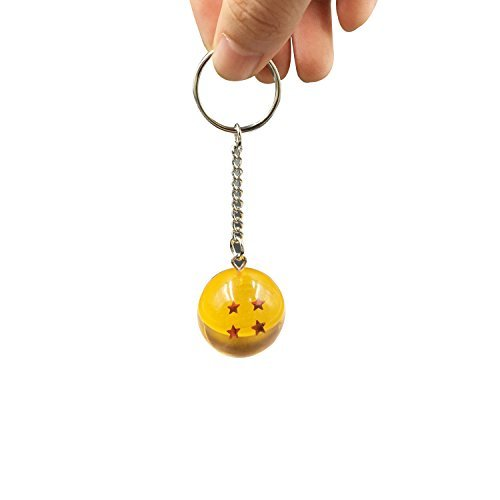 Amorvue Star Ball 2 5Cm Crystal Ball 4 Stars Keychain Keyring Pendant