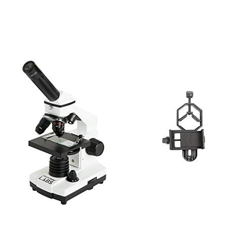 AC adapter with Basic Smartphone Adapter 1.25 10x and 20x eyepieces Celestron CM800 Compound Microscope w//40x 800x power
