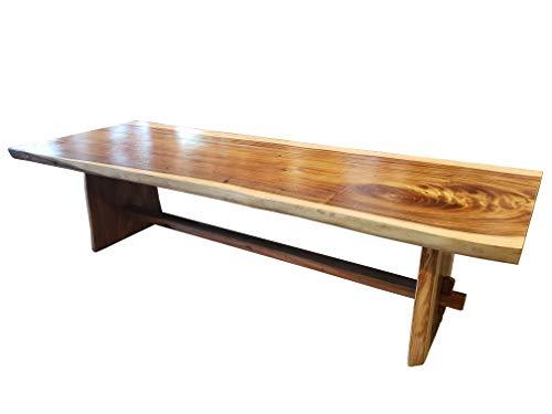 Suar Live Edge Unique Slab Rustic Dining Table - 98