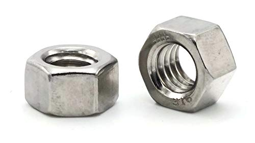 Hex Finish Nuts 316 Stainless Steel Qty-100 7//16 Flats x 7//32 Thick 1//4-28