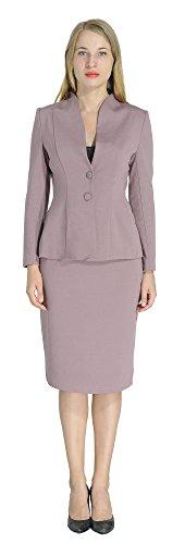 Marycrafts Women's Formal Office Business Work Jacket Skirt Suit Set 12 Light Purple