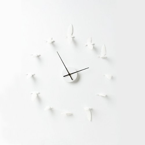 ハオシデザイン (Haoshi Design ) 壁掛け時計 サークル時計 Circling Swallows Clock B00C7IGTZI