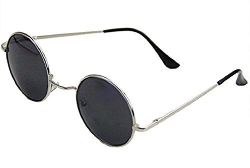 60 Lentes Gris hippie Gafas Plata Montura En los años estilo de de sol qpTpwFP0