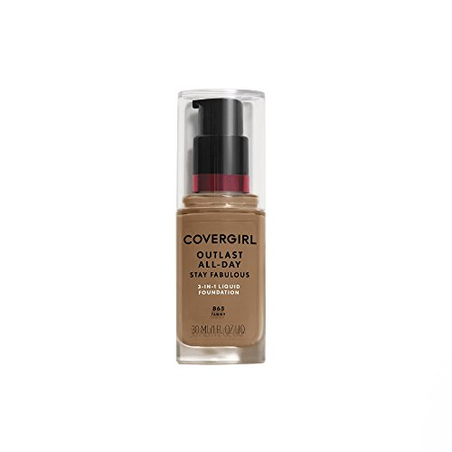 (COVERGIRL Outlast All-Day Stay Fabulous 3-in-1 Foundation Soft Sable, 1 oz (packaging may vary))