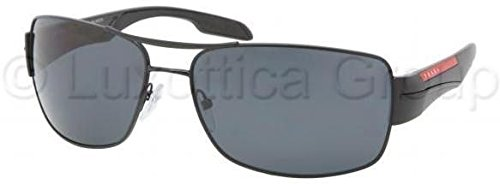 Prada Gray Lens (Prada Sport Sunglasses - PS53NS / Frame: Demi Shiny Black Lens: Gray Polarized)