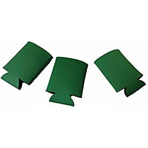 Blank Can Coolers , drink coolies, collapsible insulators, 6 pack, 12, pack, 25 pack, monograms, DIY projects, weddings, parties, Christmas, orange, brown, kelly green, red, grey (12, Kelly Green)