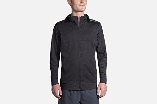 (Brooks Men's Hideout Jacket, Black, Small)