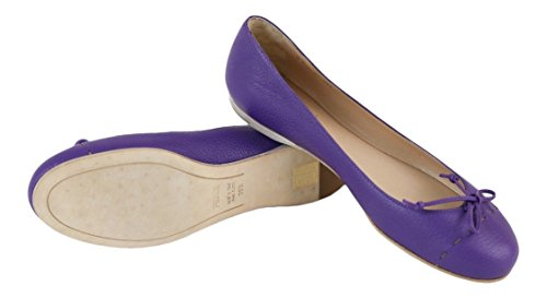 Fendi Women's Purple Leather Flats Shoes Size - Fendi Designers