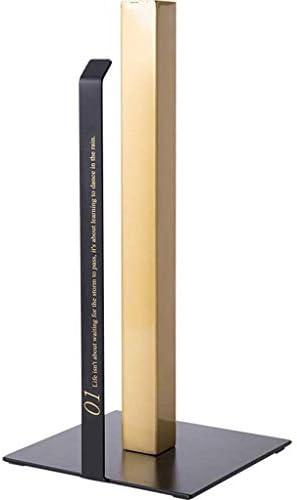 トイレットペーパーホルダー/現代の金属紙巻器掘削なし防食ノンスリップ豪華なペーパーホルダーに適しリビングルームキッチン寝室-黒金
