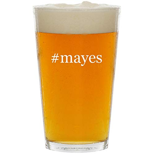 #mayes - Glass Hashtag 16oz Beer Pint
