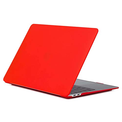 (MacBook Pro 13 Case 2016 2017 2018 Model A1706/A1708/A1989, ACOLOR Soft-Touch Frosted Plastic Hard Cover for Apple Newest MacBook Pro 13 Inch with/Without Touch Bar and Touch ID, 9 red)