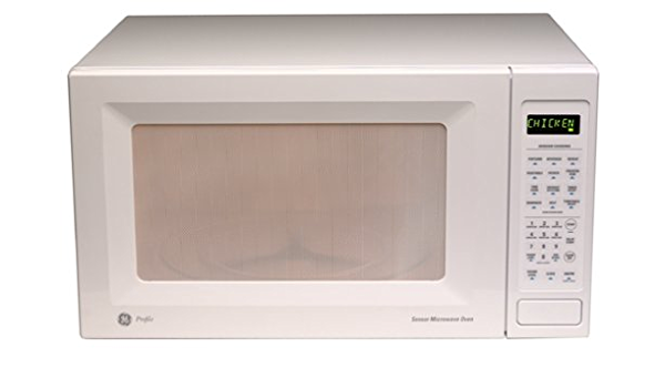 Amazon Com Ge Appliances Je1860wb Ge Profile 1 8 Cubic Foot Countertop Microwave Oven White Kitchen Dining