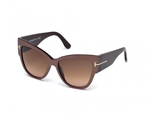 Tom Ford FT0371 Women's Anoushka Cateye, Brown, 57 mmX16 mmX140 - Ford Cheap Tom Sunglasses