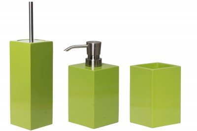 Merveilleux Bathroom Set Soap Dispenser/Toilet Brush Toothbrush Holder Taco Lime