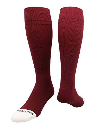 MadSportsStuff Pro Line Over The Calf Baseball Socks (Maroon, Large)