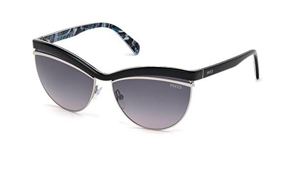 smoke mirror Sunglasses Emilio Pucci EP 0074 05C black//other