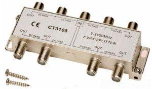 (Allen Tel CT3108 Coaxial 2.4 GHz 8-Way Splitter)