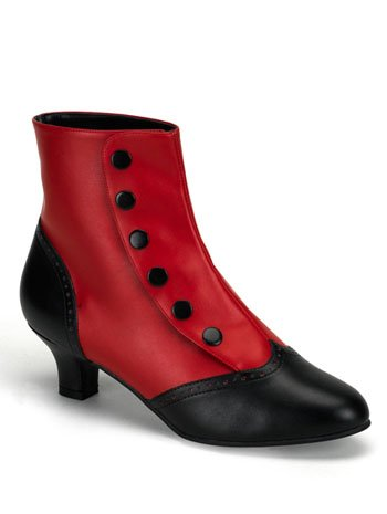Bordello Button Spat Ankle Boot - 8 (Spat Boots)