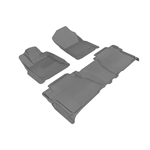 3D MAXpider Third Row Custom Fit All-Weather Floor Mat for Select Honda Ridgeline Models Black Kagu Rubber