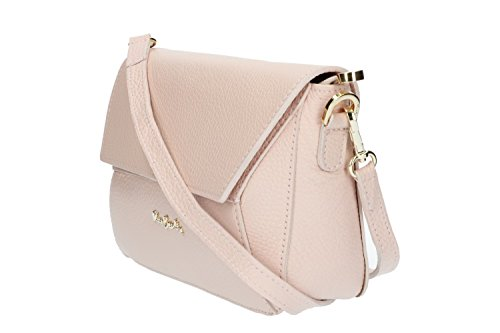 Borsa donna a mano tracolla PIERRE CARDIN rosa in pelle Made in Italy N1069
