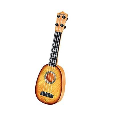 villeur Portable Children Toy Guitar Musical Toys Musical Instrument (Random Color): Clothing