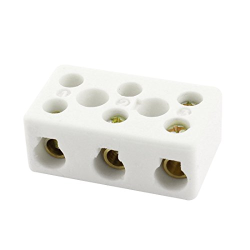 Aexit 6mm Wiring Audio & Video Accessories Hole Dia Porcelain Ceramic Terminal Block 3W8H Connectors & Adapters AC250V 600C