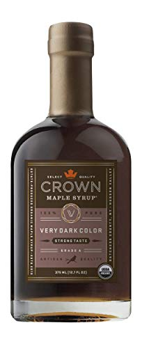 Crown Maple Organic Grade A Maple Syrup, Very Dark, 12.7 Ounce ()