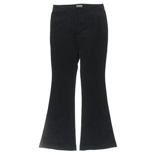 Dark Wash Mid-Rise Flare Jeans Blue 6 (Flare Dark Wash)