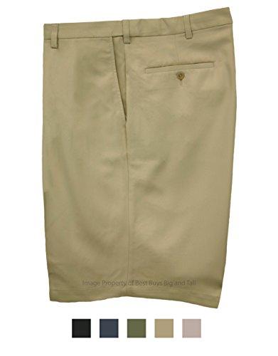 Haggar Casual Shorts Flat Front - Khaki Size ()