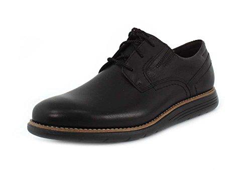 Rockport Mens Total Motion Sport Dress Plain Toe Black Leather Oxford - 11 W
