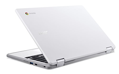 "Acer Chromebook Spin 11 Convertible Laptop, Celeron N3350, 11.6"" HD Touch, 4GB DDR4, 32GB Storage, Wacom EMR Pen, Pearl White, CP511-1HN-C7Q1"
