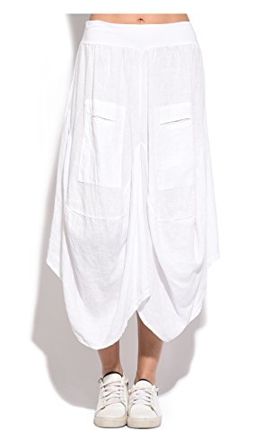 Collection Jupe Et Printemps Blanc Lino Femme Puro twA5WgqA