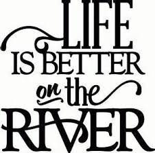 Life Is Better At The River Fishing Camping Vinyl Decal Sticker|BLACK|Cars Trucks Vans SUV Laptops Wall Art|5.5