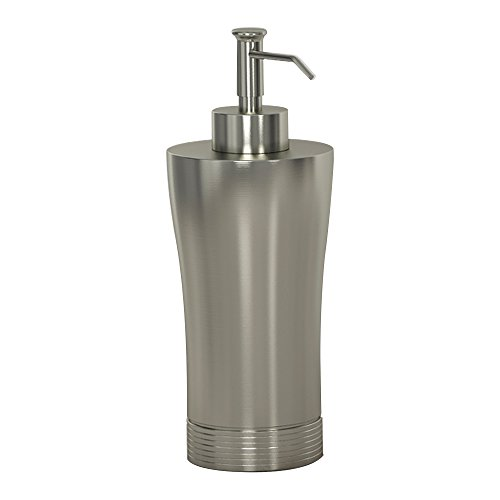 nu steel SPM6H Special Collection Liquid Soap & Lotion Dispenser Pump for Bathroom or Kitchen Countertops, Metal with matt Brushed Pewter Finish ()