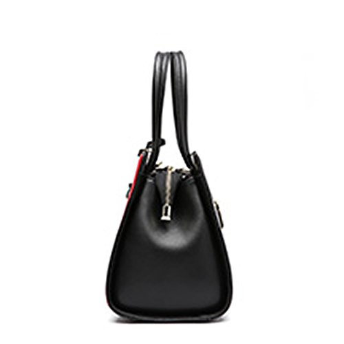 Women Bag Q0936 Dissa Leather Hard Pockets Handbags Shoulder Multiple black THwnq